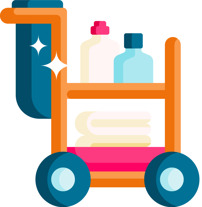 Sparkles cleaning cart