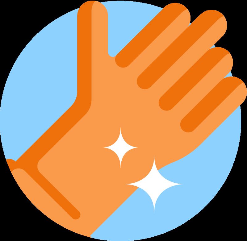 Sparkels rubber glove